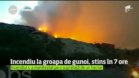 Incendiu la groapa de gunoi din Bacău, stins în șapte ore