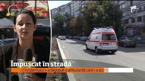 Incident şocant, în plină zi, pe o stradă din Galaţi! Un tânăr de 17 ani a ajuns la spital, împuşcat cu un pistol cu bile