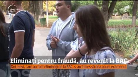 Cei doi elevi eliminaţi pentru suspiciunea de fraudă la prima sesiune a bacalaureatului au susţinut din nou examenul