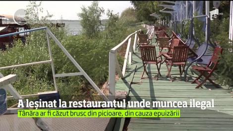 O adolescentă a leşinat la locul de muncă  un restaurant de pe malul Dunării, în Galaţi