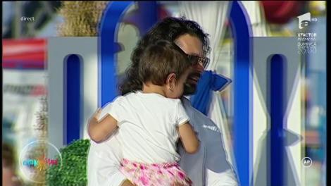 """Pepe, probleme, în direct, cu micuța Rosa: """"Publicitate, plânge copilul"""""""