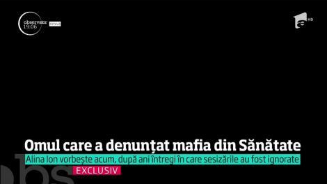Martorul denunţător în dosarul mafiei din Sănătate, interviu exclusiv pentru Observator
