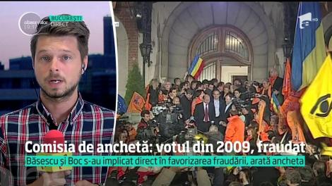 Alegerile din 2009 au fost fraudate, iar fostul preşedintele Traian Băsescu şi fostul premier Emil Boc s-au implicat în favorizarea fraudării