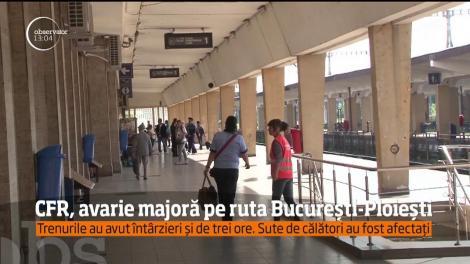Este haos pe calea ferată între Bucureşti şi Ploieşti