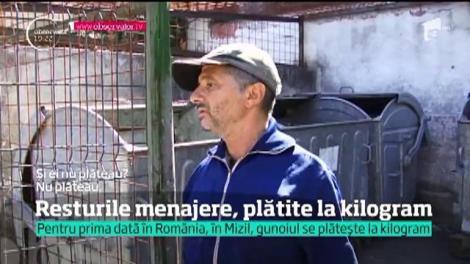 Pentru prima dată în România, în Mizil, gunoiul se plătește la kilogram