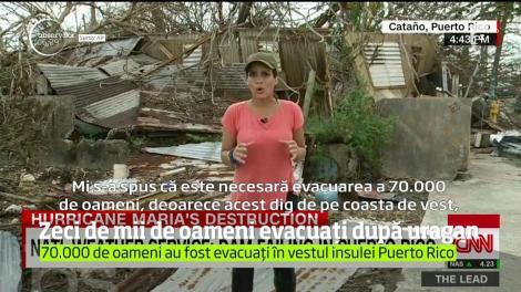 Uraganul Maria a devastat Porto Rico! 70.000 de oameni au fost evacuaţi în grabă deoarece un dig ameninţa să cedeze