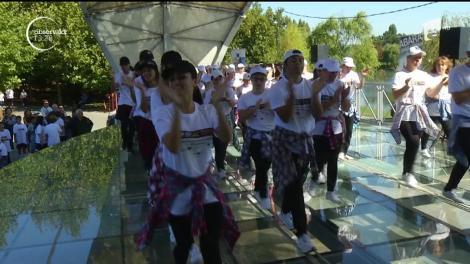 Nicio zi fără mişcare! Zeci de copii s-au adunat în Parcul IOR din capitală ca să arate că sportul e amuzant şi nu e chiar atât de complicat
