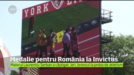 Prima medalie pentru România la Jocurile Invictus 2017 de la Toronto!