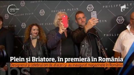 Designerul german Philipp Plein şi celebrul om de afaceri Flavio Briatore au ajuns în Bucureşti