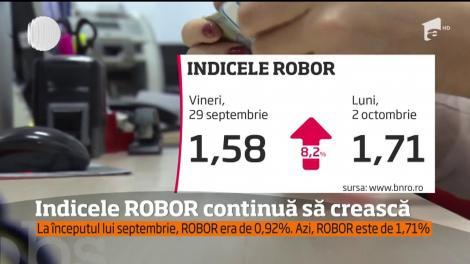 Indicele ROBOR continuă să crească!