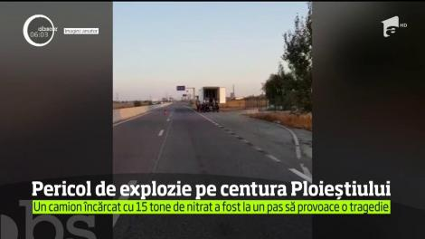 A fost mobilizare de forţe în judeţul Prahova, după ce un camion încărcat cu nitrat a fost la un pas să provoace o tragedie
