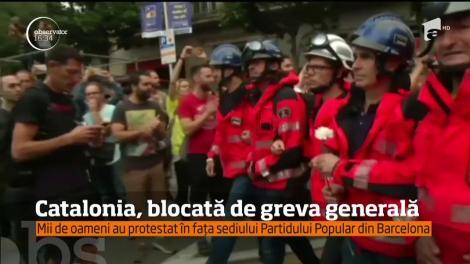 Catalonia, blocată de grevă generală