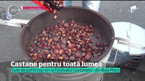 Orașul Baia Mare a fost învăluit de aroma castanelor coapte sau prăjite în cadrul Festivalului Castanelor