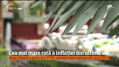 Scumpirile din ultima lună se simt în rata anuală a inflaţiei!
