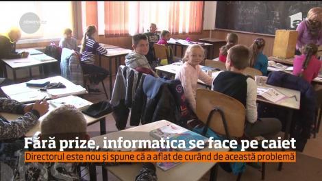 Copiii de la școala Generală Nr. 2 nu pot învăța informatică pentru că nu există prize