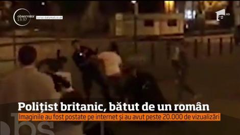 Polițist britanic, bătut de un român