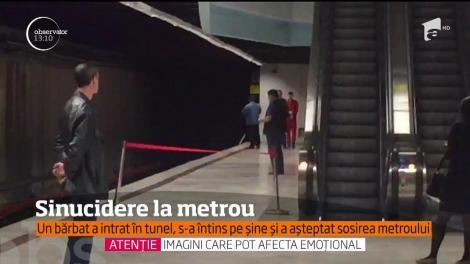 Sinucidere la metrou! Un bărbat a intrat într-un tunel, s-a lungit pe şine, între staţiile Unirii şi Piaţa Romană, şi a aşteptat să vină trenurile!