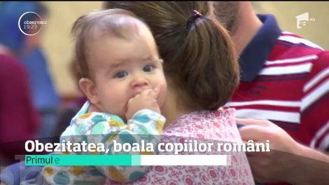 Obezitatea, boala copiilor români. Unul din doi elevi este supraponderal