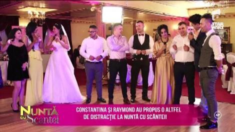 Constantina și Raymond au propus o altfel de distracție la nuntă cu scântei