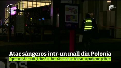 Atac sângeros într-un mall din Polonia! O femeie a murit şi alte opt persoane sunt rănite