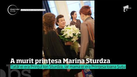 Prinţesa Marina Sturdza a încetat din viaţă, la New York