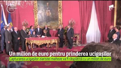 Un milion de euro pentru prinderea ucigaşilor jurnalistei Daphne Caruana Galizia