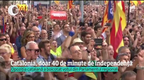 Catalonia şi-a declarat independenţa! Zeci de mii de oameni, pe străzile Barcelonei