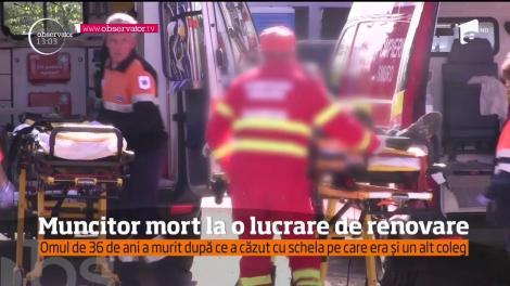 Un bărbat a murit şi un altul este în stare gravă la spital după ce au căzut de la o înălţime de 6 metri!