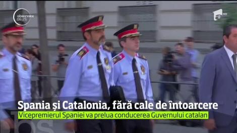 Demonstraţie de amploare la Madrid! Mii de manifestanţi pro-uniune au scandat împotriva liderului catalan