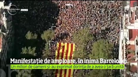 Manifestaţie de amploare în inima Barcelonei!