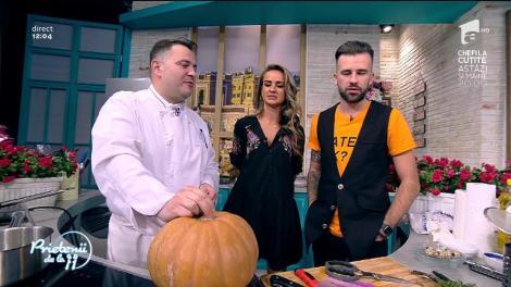 """Viorel Copolovici gătește: """"Supă cremă de dovleac cu ouă de prepeliță poșate"""""""