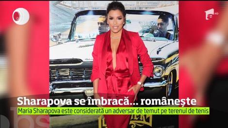 Maria Sharapova a făcut furori cu o ţinută creată de un brand românesc