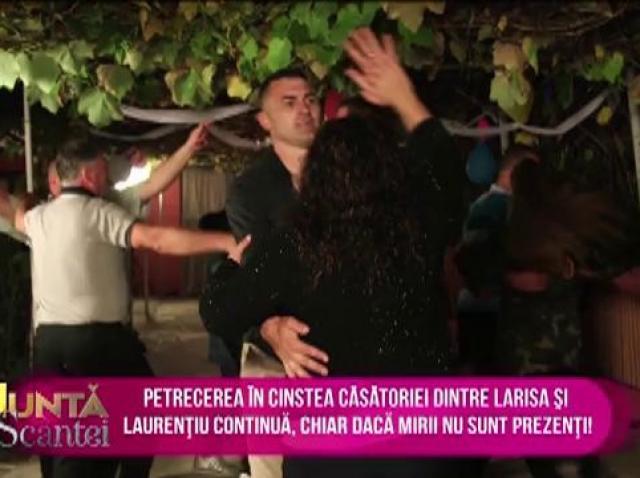 Petrecerea în cinstea lui Laurențiu și a Larisei continuă, chiar dacă mirii au dispărut misterios