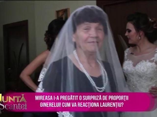 """O tradiție de nuntă mai rar întâlnită. Bunica poartă voalul miresei: """"O vreau pe miresica mea"""""""