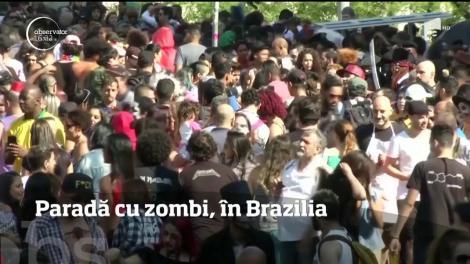 Sute de zombie au invadat străzile din Rio de Janeiro
