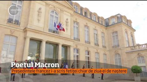 Emmanuel Macron i-a scris unei adolescente de 13 ani o poezie. Textul a fost făcut public pe Twitter