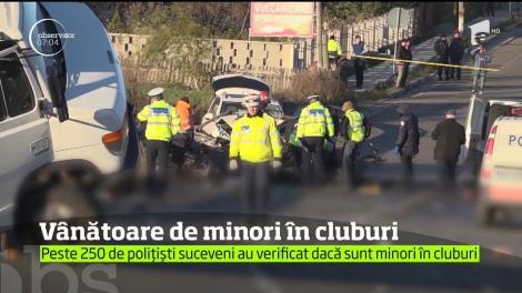 Peste 250 de polițiști suceveni au verificat dacă sunt minori în cluburi