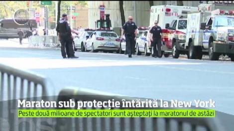 Maraton sub protecție întărită la New York