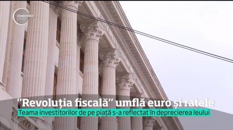 """""""Revoluţia fiscală"""" umflă euro și ratele! BNR estimează că în ianuarie 2018 va fi un vârf de inflație"""