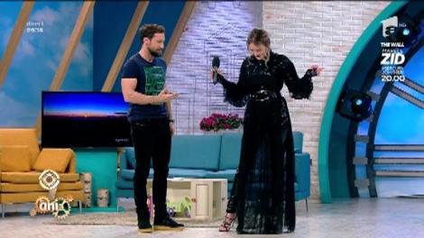 Cristina Strecopîtov, apariție magică în platoul Neatza!