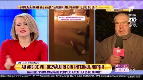 """Martor la accidentul teribil din Capitală: """"Prima mașină de pompieri a venit la 25 de minute"""""""