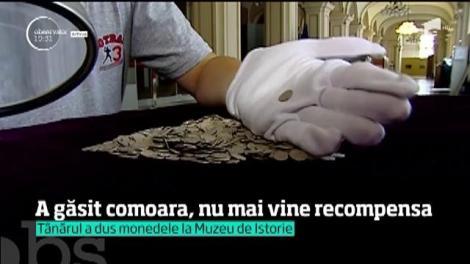 Un tânăr din Vâlcea a găsit o comoară şi aşteaptă recompensa. Şi-ar mai putea aştepta mult şi bine. Ministerul Culturii şi Muzeul de Istorie îi datorează peste 30.000 de euro