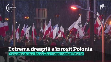 Centrul Varşoviei, blocat de susţinătorii extremei dreapta