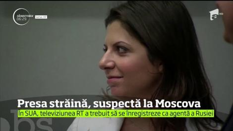 """Posturile străine de radio şi televiziune care au redacţii în Rusia ar putea fi declarate """"agenţi străini"""""""