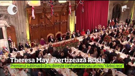 Premierul britanic Theresa May a criticat sever acţiunile Rusiei care, în opinia sa, ameninţă actuala ordine internaţională