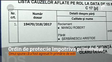 Un bărbat din Gorj a cerut ordin de restricție împotriva primarului din comuna Schela