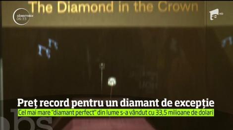Cât costă diamantul perfect. Este vorba despre o sumă record