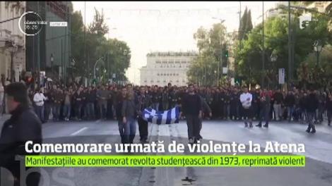 Comemorarea revoltei studenţeşti din 1973 de la Atena, urmată de violenţe