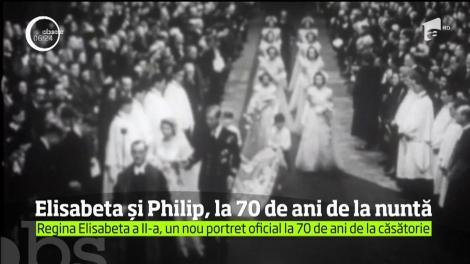 Regina Elisabeta a Doua şi  soţul său, prinţul Philip, la 70 de ani de la căsătorie