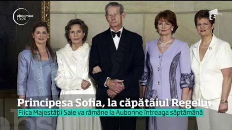 Principesa Sofia, la căpătâiul Regelui Mihai